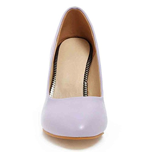 Sexy Purple Slip Pointy Stiletto High Easemax Heel Womens Toe Shoes On Cut Pumps Low fwBq1nqax