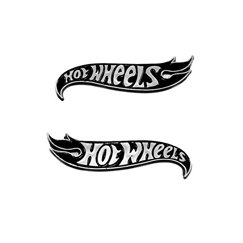 2pcs OEM Camaro Hot Wheels Edition Deck Lid Emblem Badge Hotwheels Genuine (black)