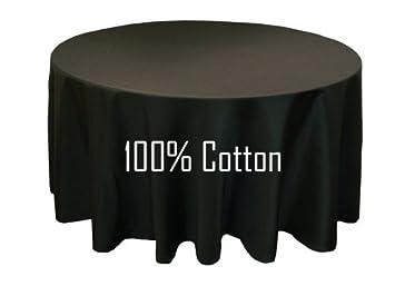 Chambury Casa100% Cotton Tablecloth   Black 108 Inch Round