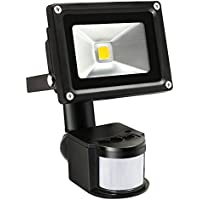 10W Outdoor PIR LED Security Light Flood Light - 39ft Detection Range 180 Degree PIR Motion Sensor