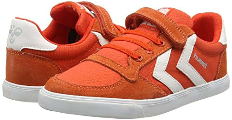 Hummel Slimmer Stadil Canvas Jr Lo, Unisex Kids' Sneakers, Orange (Cherry Tomato 5086), 1 UK (33 EU)