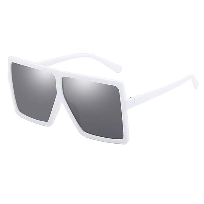 JiXuan Gafas de sol de gran tamaño Mujeres Hombres Gafas de ...