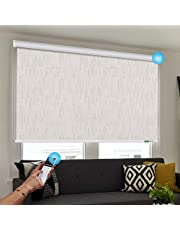 Rechargeable Motorized Blinds Width(23-89 inches) Height 78 inches 100% Blackout Jacquard Fabric for Office and Home Compatible Alexa Google via Broadlink