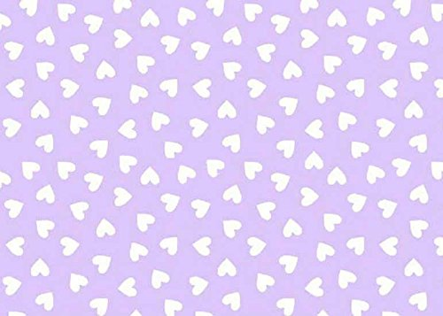 SheetWorld Fitted Pack N Play (Graco) Sheet - Hearts Pastel Lavender Woven - Made In USA by SHEETWORLD.COM (Image #1)