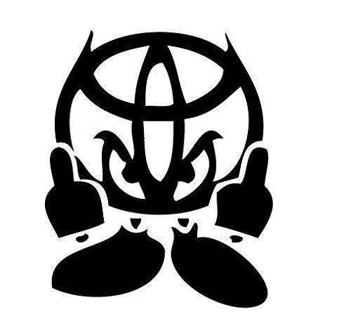 Toyota Character Decal Vinyl Sticker|Cars Trucks Vans Walls Laptop|BLACK |5.5 in|CCI410