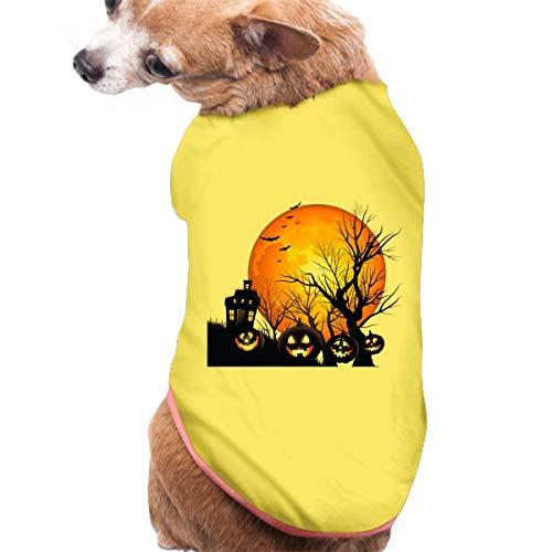 JuLeFan Pet Shirt, Dog Cat Clothes Puppy Classic Vest Halloween Clipart T-Shirt Pet
