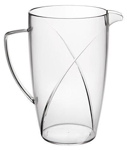 Premium Break Resistant Clear Plastic Pitcher - Great for Iced tea, Lemonade & Water, - 80 Pitcher Ounce