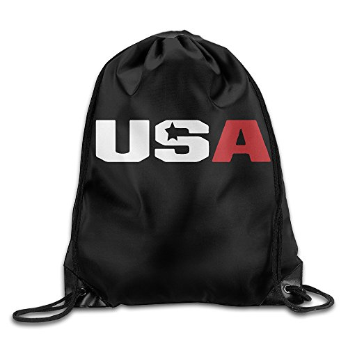 "Price comparison product image 2016 Ryder Cup Usa Logo Sackpack Training Gymsack Drawstring Bag Drawstring Backpack Sport Bag Travel Bag Pouch Portable Backpack Rucksack Bagsack 16.9"" X 14.2"" Durable 210 D Polyester"