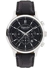 Gigandet Herren-Armbanduhr Sport Chronograph Quarz mit Lederarmband schwarz G48-002