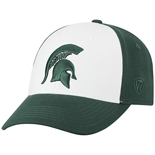 Top of the World NCAA-Premium Collection Two Tone-One-Fit-Memory Fit-Hat Cap- Michigan State Spartans
