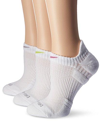 Nike Womens 3-Pack Dri Fit Cushion No-Show Tab Ankle Socks Multi-Color SX4841-913 Size Medium 6-10 - Cheerleading Shoes Nike