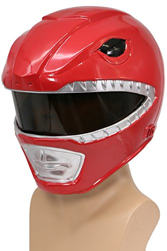 Power Rangers Helmet Deluxe Red Resin Halloween Cosplay Costume for Sale Xcoser (Power Rangers Helmet)