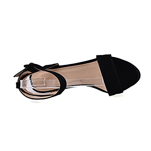 Balamasa Ladies Sandali Smerigliati Stile Europeo Open-toe Neri