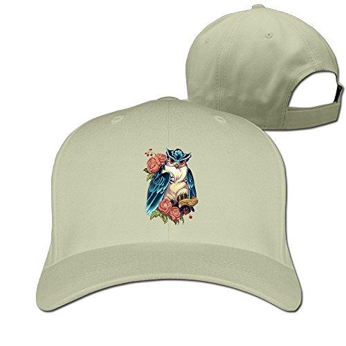 BUUMY Halloween Owl Unisex Adjustable Caps & Hats