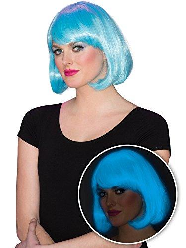 Rubie's Women's Glow Bob Wig, Blue, One -