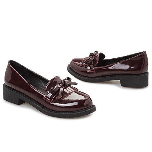 Zanpa Mujer Clasico Brogue Zapatos Plano School Uniforme Bombas Marron