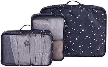 トラベルポーチ収納バッグ 旅行用3点収納バッグ、防湿・透湿ダブルファスナー、荷物収納バッグ、旅行、出張、家族の収納 (Color : A)