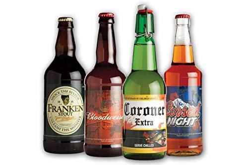 (Morbid Enterprises - Halloween Glow in the Dark Beer Labels, 4)