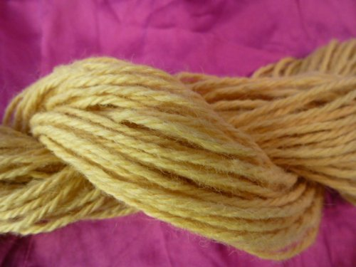 Yellow 100% Wool Worsted Weight Knitting ()