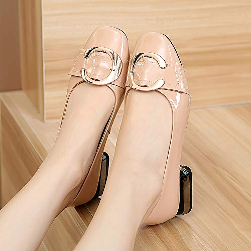 shoes mouth FLYRCX Spring shoes flat single soft shoes casual shallow autumn bottom ladies A and leather U1Xx18qf