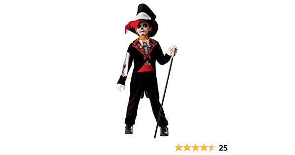 Rubies- Disfraz Catrina Boy, Multicolor, L (8-10 años) (700466-L)