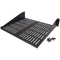 CNAweb 2U 19-Inch Vented Rackmount Equipment Shelf for Server Cabinet Rack 15 Deep w/Hardware