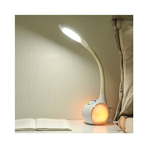 Plush Lamp (Huluwa LED Desk Lamp Eye-caring USB Table Lamp, 3-Level Brightness Dimmable Touch, 256 Colors Gradient, USB Charging Port,)