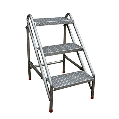 BEAUTY Simple Stool Thicken Step Stool Stainless Steel Dual Use Household Ladders Ascend Stool Small Ladder