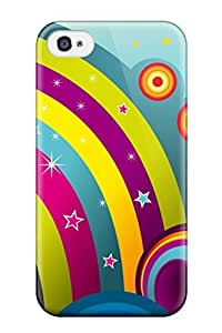 PmRyyPn8001UEgEm Vector Rainbows Fashion Tpu 4/4s Case Cover For Iphone
