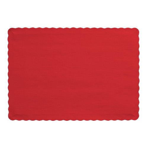 Creative Converting 50 Count Touch of Color Paper Placemats, Classic Red (Paper Place Mats)