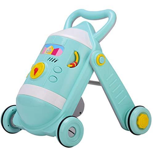 Baby Walkers Andadores para bebés, 6-18 Meses El antivuelco Plegable para bebés se Puede sentar Ahd Push For Toddlers...