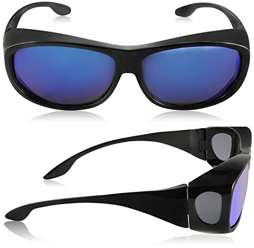 7791ccdfbb1ec TINHAO Fit Over Glasses Sunglasses - Polarized Fitover Sunglasses with 100%  UV Protection for Driving