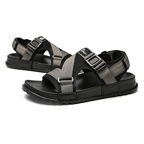 Grey Convenient Mesh JULY Wear Athletic Sandals to Cloth Slippers for Weight Breathable Light Beach Men T w7Zaw