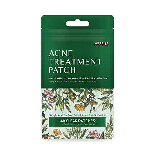 Acne Spot Patch With Salicylic Acid & Essential Oils Prevents Scarring and Reduces Redness (40 Count)