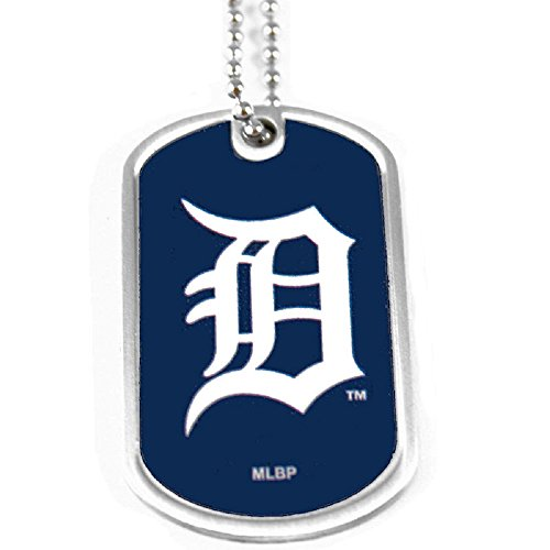 - aminco Detroit Tigers Dog Tag Domed Necklace Charm Chain Mlb
