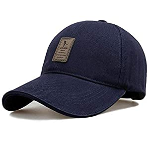 CAPS FOR MENS Ediko Men's Mesh Snapback Baseball Cap for Hunting, Fishing, Outdoor Activities (Blue, Free Size)