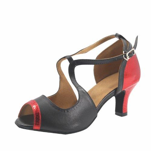 Msmushroom 3''heel Latin 2 in red Shoes Woman's Pu Colors rUzr0