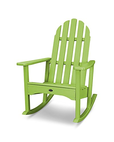 Trex Outdoor Furniture Cape Cod Adirondack Rocking Chair in Lime