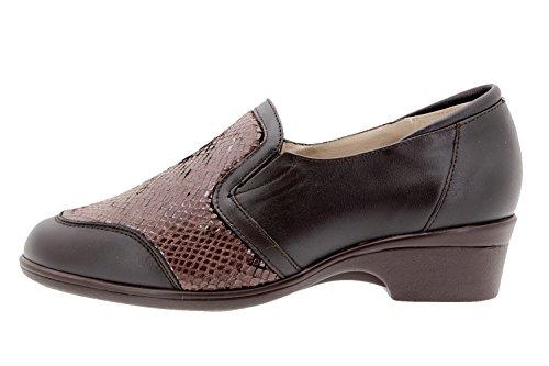 Calzado Mujer Confort de Piel Piesanto 9614 Zapato Elástico Casual Cómodo Ancho PYFUdiyZ