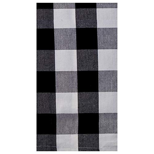 C&F Home Franklin Buffalo Check Gingham Plaid Woven Black and White Cotton Kitchen Towel Kitchen Towel Black & White (Kitchen Checkered)