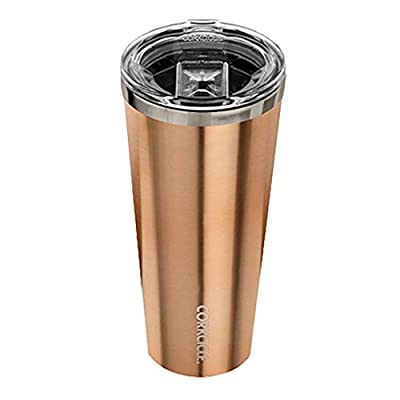 Corkcicle Tumbler Insulated Stainless Steel Bottle/Thermos, 16 oz, Brushed Copper
