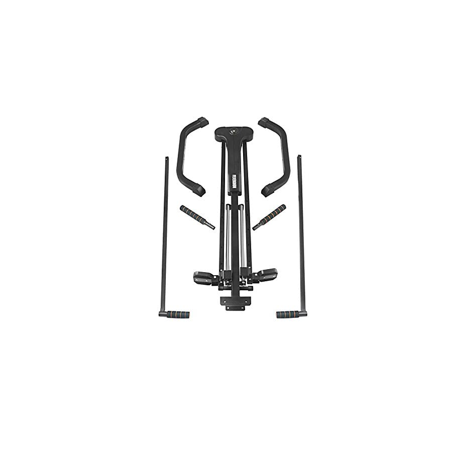 FEIERDUN Vertical Climber, Climbing Machine Full Total Body Workout Fitness Folding Cardio Climber Exercise Machine (C03) (Black`)