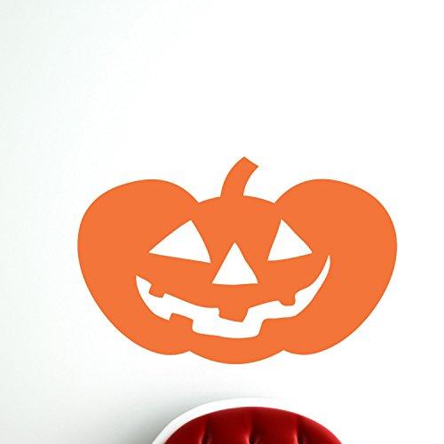 43SabrinaGill Jack O Lantern Happy Pumpkin Wall Vinyl Decal Sticker Family Kids Room Mural Holiday Spooky Scary Pumpkin Carving 40