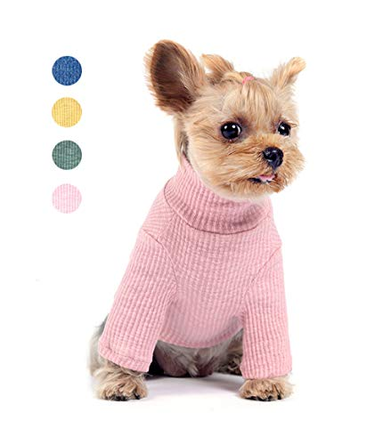 U2Paw 2019 New Spring & Summer Classic Dog Knitwear Sweater Puppy Pet Coat Soft Sweater Clothing for Small and Medium Dogs,Pink -