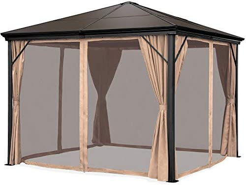 Best Choice Products 10x10ft Outdoor Aluminum Frame Hardtop Gazebo Canopy