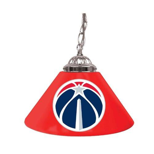 Trademark NBA1200-WW 14'' Single Shade Bar Lamp With NBA Team Logo, Washington Wizards by Trademark Global
