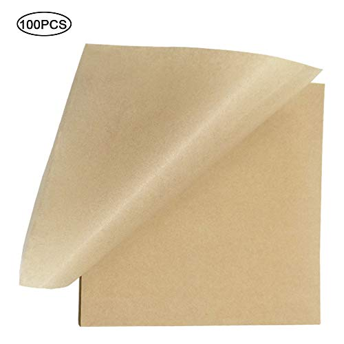 Unbleached Parchment Paper - Kitchens Cookie Baking Sheets Non-Stick Coating Safe for Cook, Grill, Steam, Half Sheet Pans, 12 x 16 Inches High Temperature Baking 100 Pcs