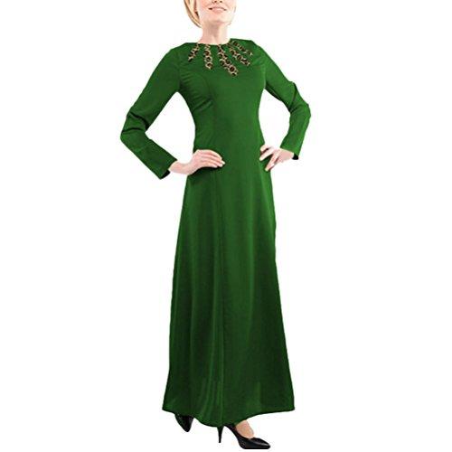 Zhuhaitf Muslims Women Abaya Clothes Robes Long Sleeve Dresses For Arabic Turkish
