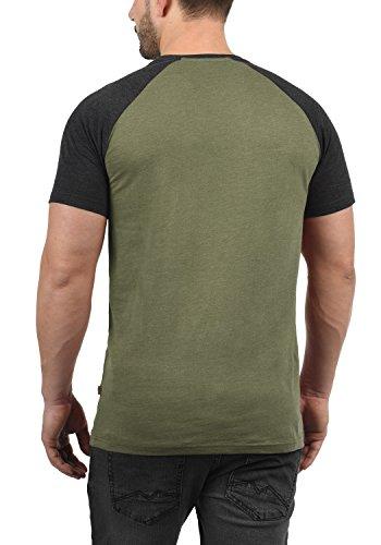 shirt Melange Para Ivy T Corta 8797 Redondo Básica Cuello Green Camiseta Bastian Hombre De Manga solid Con H0SqCZw