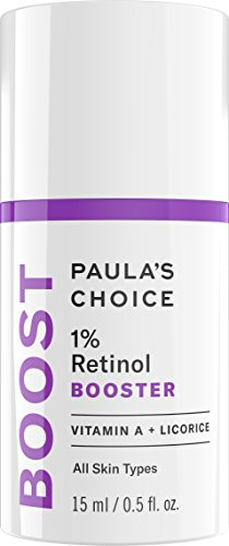Paula's Choice-BOOST 1% Retinol Booster for Brown Spots and Wrinkles, 0.5 Oz. (1 Bottle), Concentrated Vitamin A Retinol Serum for Normal, Dry, Oily, and Combination Skin of the Face and ()